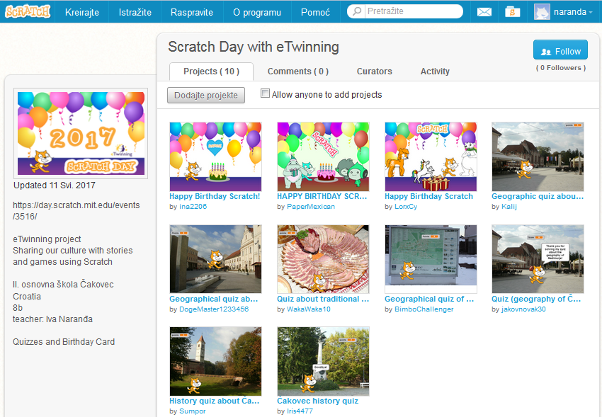 Scratch Day with eTwinning studio Croatia